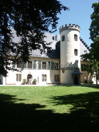 tower romantic idyll chateau castle schloss
