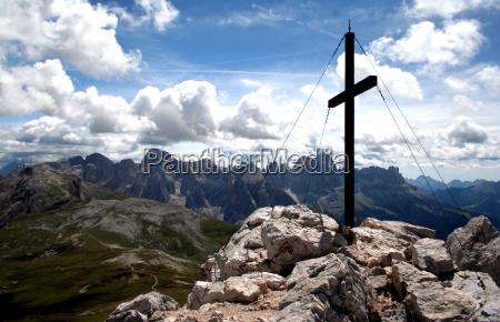 gipfelkreuz, monte, pez - 110815