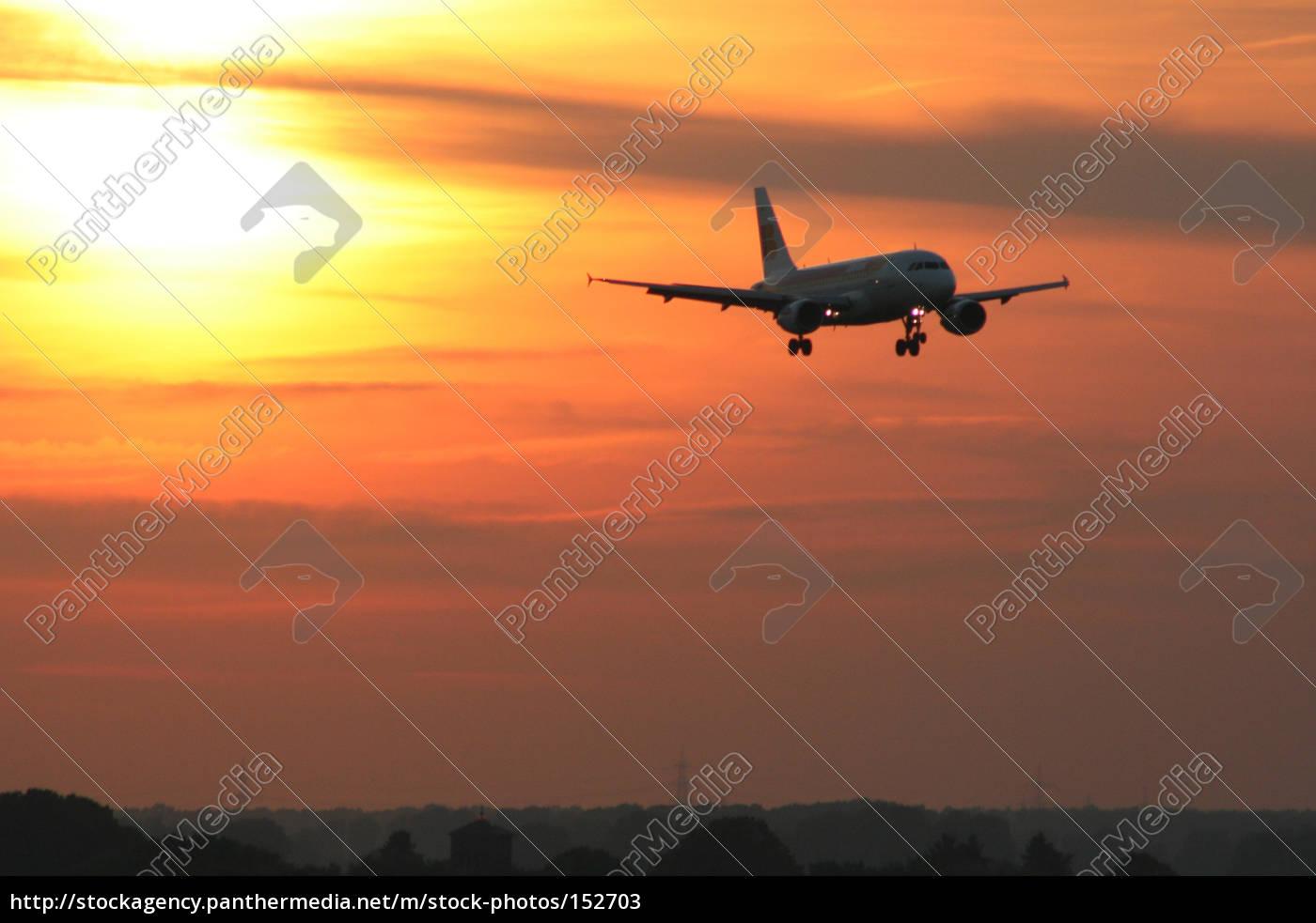 aircraft, at, fiery, sky - 152703