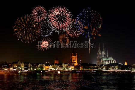 cologne, fireworks - 215042