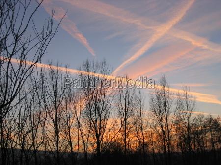 sunset lines sense evening sky twilight