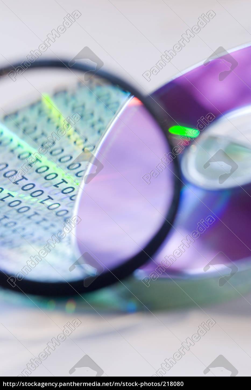 digital, data, under, magnifying, glass - 218080