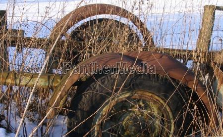 agriculture farming vehicle rust scrap mull