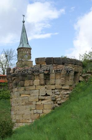 tower ruin steeple altenstein unterfranken hassberge