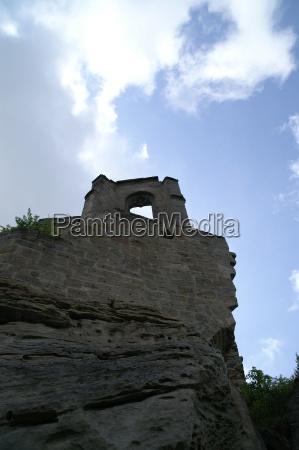 blue facade firmament sky burgruine altenstein