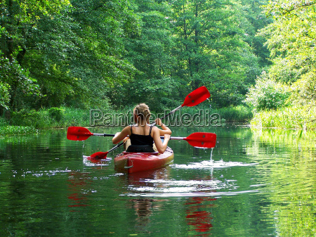 paddling in the green lung