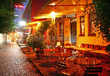 dinner at cafe