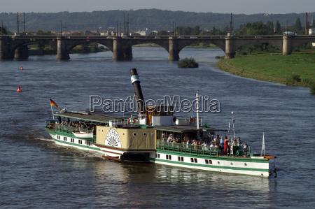 the coal steamer diesbar in dresden