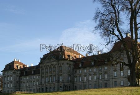 rear view castle weissenstein