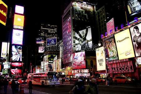 ny times square at night