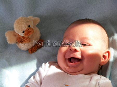 the baby laughing