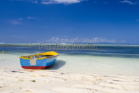 seychelles smallcolorful boat