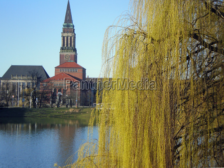 kiel, city, hall, in, spring - 1149799