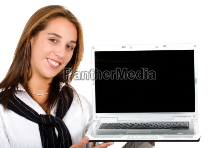 business girl with a laptop
