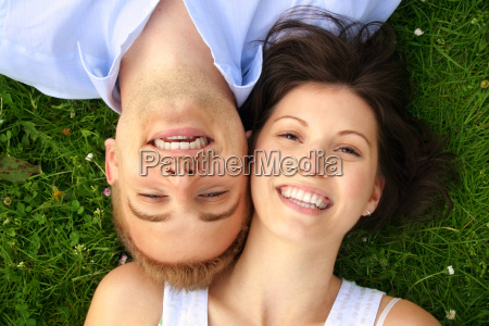 happy laughing couple