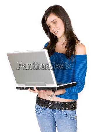 browsing on a laptop