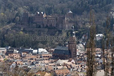 heidelberg castle in spring