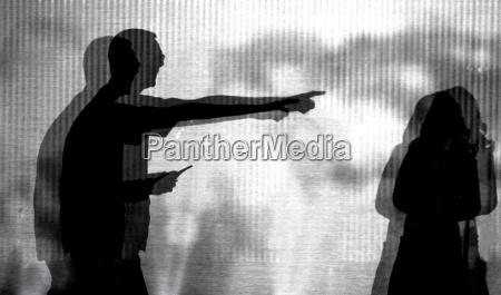 fear silhouette threat subordination authoritarian child