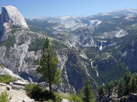 cachoeira olhar vista nevada trilha yosemite