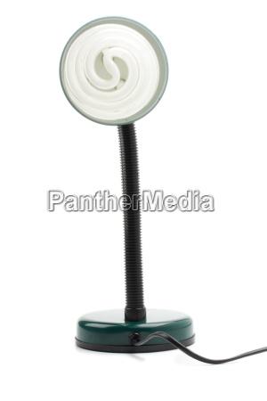 kleine flexible gruene lampe