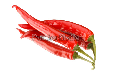 two red hot peppers on a