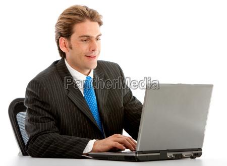 businessman on a laptop