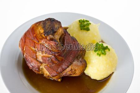 bavarian, pork, with, potato, dumplings - 1810307