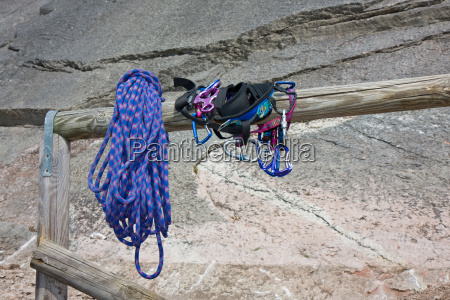 climbing equipment at entry