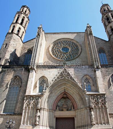 church, cathedral, barcelona, santa, maria, del - 1951399