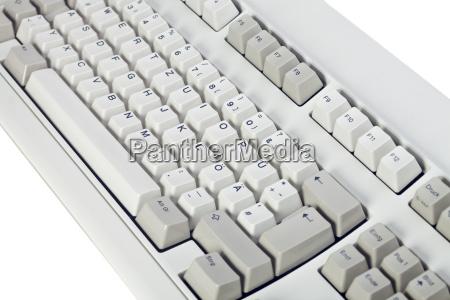 detail einer alten computer tastatur