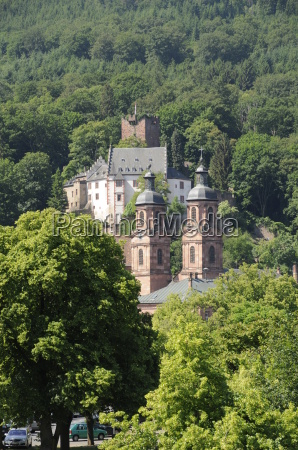 church and castle in miltenberg
