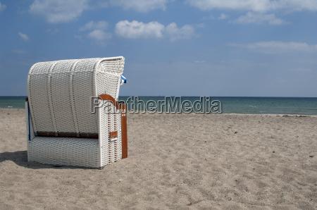 beach chair on the baltic sea