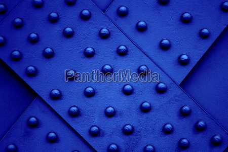 blue steel beam with rivets
