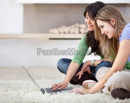 women with a laptop
