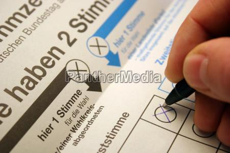 ballot for 2009 bundestag election