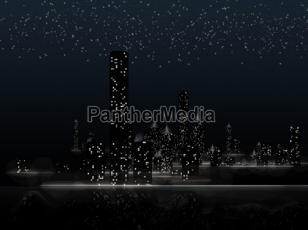 ciudad camino rascacielos city sternen
