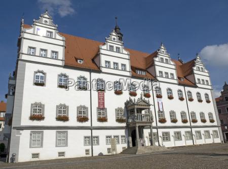 city hall in wittenbersachsen anhaltgermany