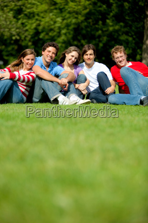 group of friends at the park