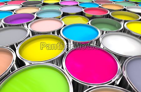 colours paint can background