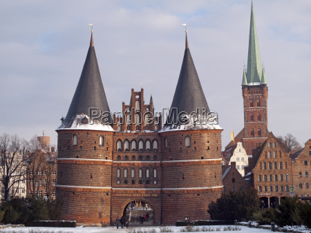 germany german federal republic luebeck holstentor