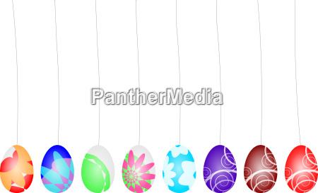 eggs colorful graphic textile