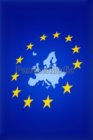 european union with map
