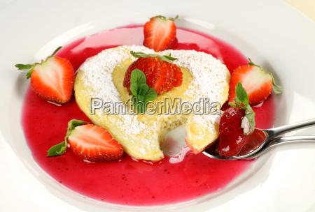 spoonful of heart shaped pancake