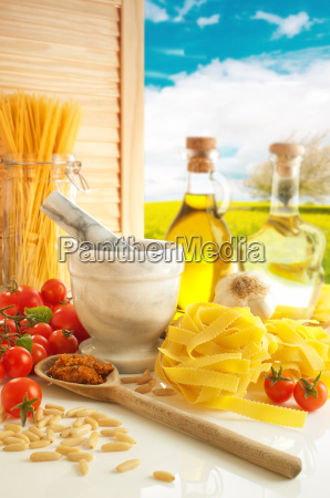 italian pasta and pesto kitchen