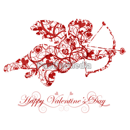 valentines day cupid with bow and