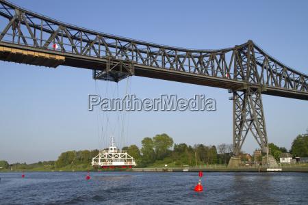 engineering bridge channel rendsburg schwebefaehre