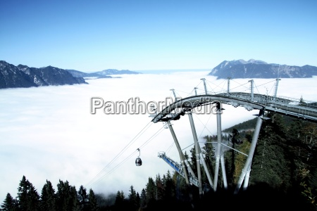 kreuzeckbahn in fog