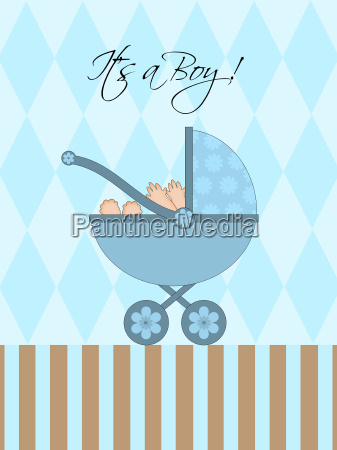 its a boy blue baby pram