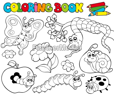 coloring book with small animals 1