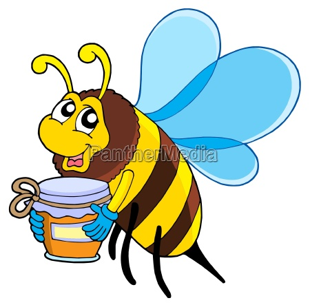 cute bee with honey